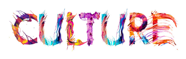 Culture banner with colorful brush strokes - fototapety na wymiar