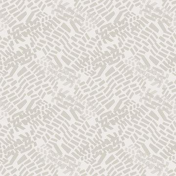 Seamless pattern. Neutral cream tonal camo background. Elegant minimal off white beige linen texture. Stylish camouflage all over print