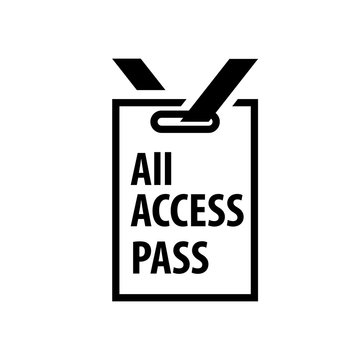 All access pass badge icon. Clipart image isolated on white background