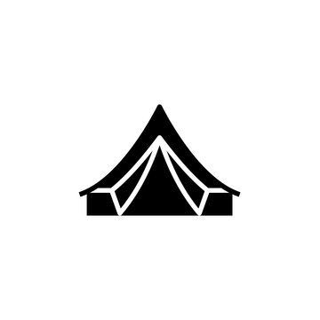 Bell tent silhouette icon. Clipart image isolated on white background