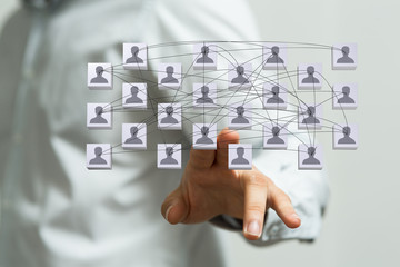 Fototapete - organization chart team concept networking group
