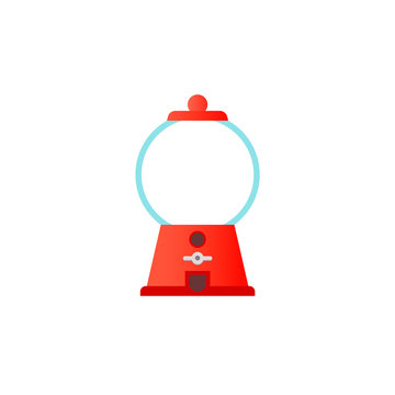 Empty gumball machine icon. Clipart image isolated on white background