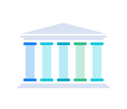 Five pillars diagram. Clipart image isolated on white background