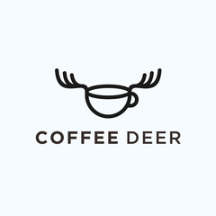 deer coffee logo. coffee icon