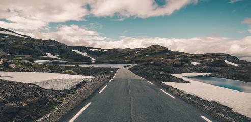 Wall Mural - Scenic Scandinavian Alpine Route