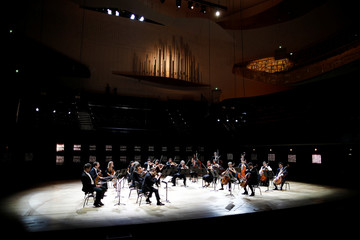 Rehearsal for a concert without audience at the Philharmonie de Paris