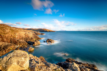 Wall Mural - A long exposure from the clifftops at Hushinish