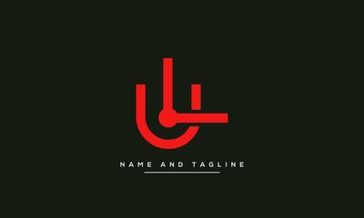 Alphabet letters monogram icon logo LU or UL Fototapete