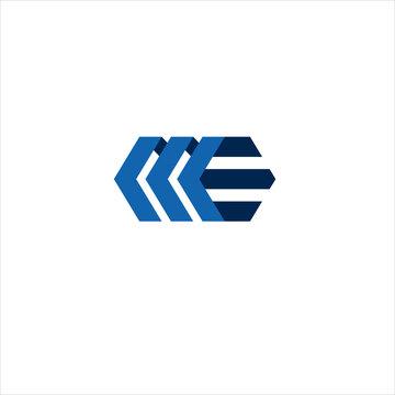 Vector letter monogram ME concept logo design template illustration eps 10