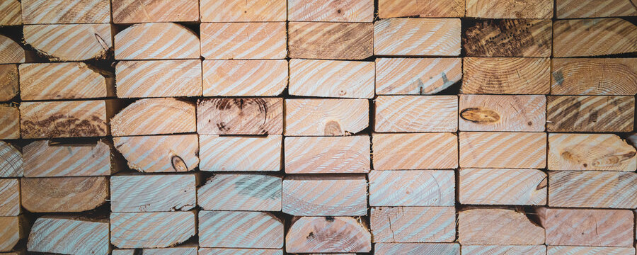 stack of wood in carpentary factory to make crates