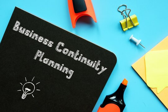 Business Continuity Planning BCP inscription on the sheet.