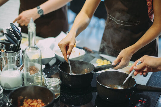 culinary master class on cooking bean and meat soup