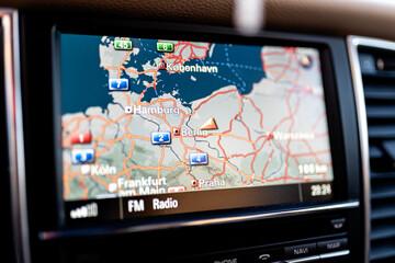 Fototapeta Nawigacja samochodowa obraz