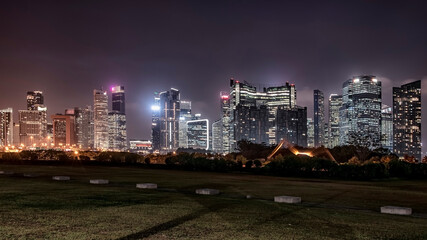 Wall Mural - Singapore city  in the evening