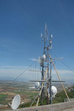 Italia : Antenne Telefonia Mobile,Campania,Maggio 2020.