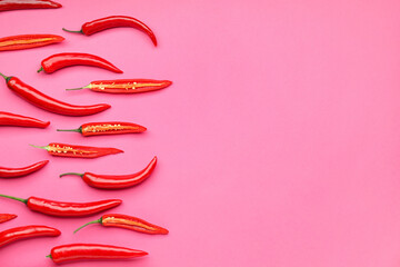 Canvas Prints Hot chili peppers Hot chili pepper on color background
