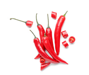 Canvas Prints Hot chili peppers Hot chili pepper on white background