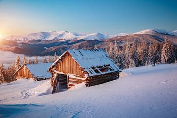 壁紙(ウォールミューラル) - Picturesque view of the countryside. Location Carpathian mountains, Ukraine, Europe.
