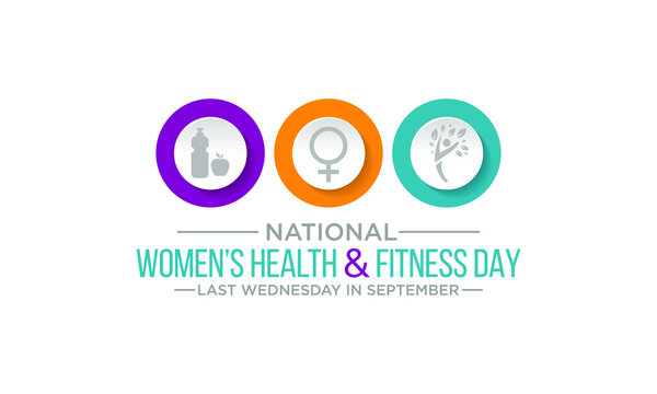 Vector illustration on the theme of national Women's health and fitness day observed each year on last Wednesday in September.
