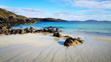 Wall Mural - The sandy beach at Hushinish on the Isle of Harris in the Western Isles of Scotland