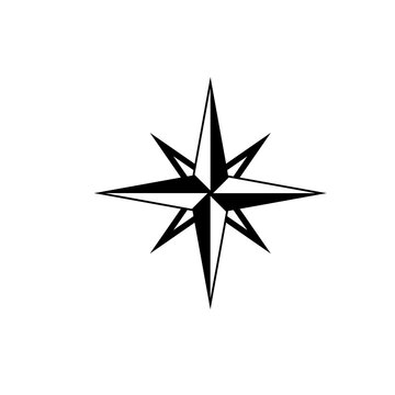 8 point star icon. Clipart image isolated on white background