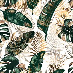 Seamless jungle background
