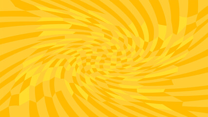 orange twirl wave pattern abstract for background, optical wave twirl yellow gold color, hypnotic concept, dynamic motion curve of lines flowing, orange wave shaped array of blended points illusion Fotoväggar