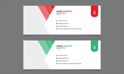 professional creative business email signature vector