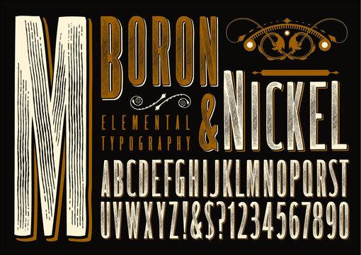 Boron & Nickel Rustic Alphabet