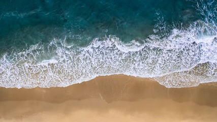 Drone shot of beach