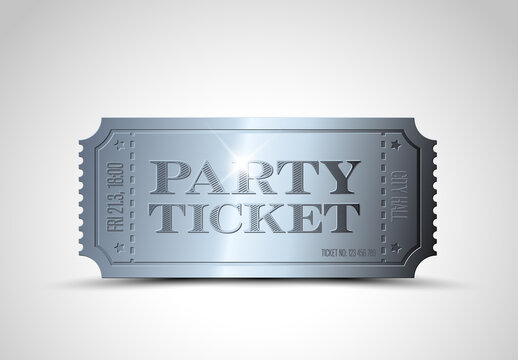Silver Event Ticket Banner Layout
