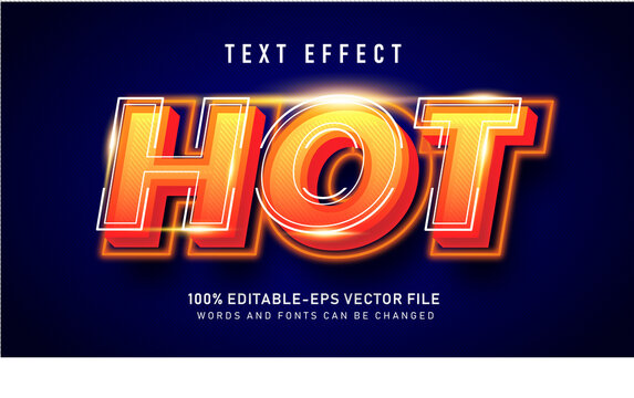 Bold Hot 3d text style effect
