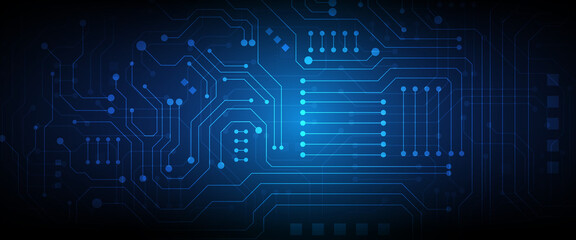 Circuit technology background Wall mural