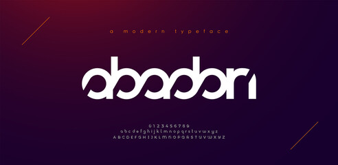 Abstract sport modern alphabet fonts. Typography technology electronic sport digital game music future creative font. vector illustration
