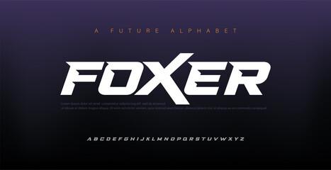 Sport Modern Italic Alphabet Font. Typography urban style fonts for technology, digital, movie logo design. vector illustration