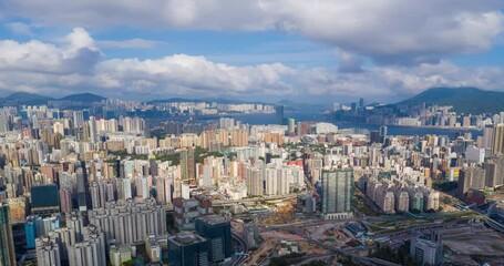 Wall Mural - Hong Kong city timelapse