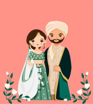 Indian Wedding Cartoon Stock Photos And Royalty Free Images Vectors And Illustrations Adobe Stock