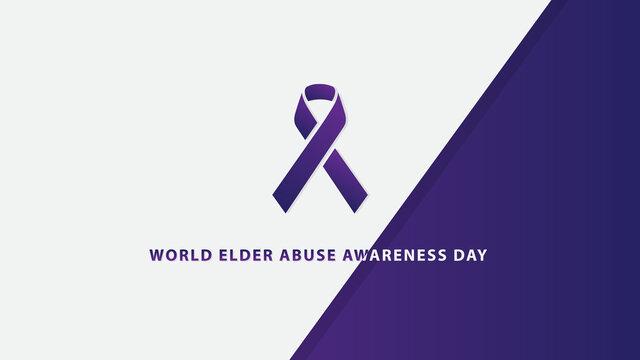 World Elder Abuse Awareness Day. Vector illustration