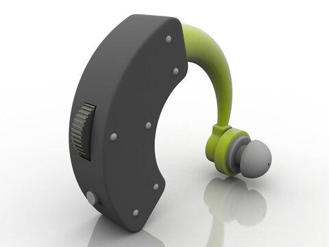 3d illustration human Hearing aid