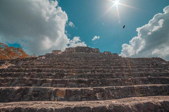Ruinas de Chacchoben en Quintana Roo, México