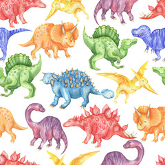 Pattern of rainbow dinosaurs