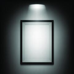 Diseño de Fondo de cuadro realista con luz