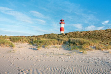 Lighthouse List Ost on the island of Sylt, Schleswig-Holstein, Germany