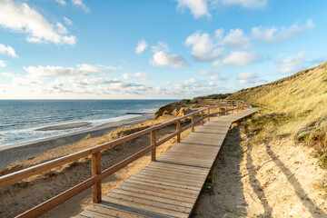 Wall Mural - Along the dune coast on Sylt, Schleswig-Holstein, Germany