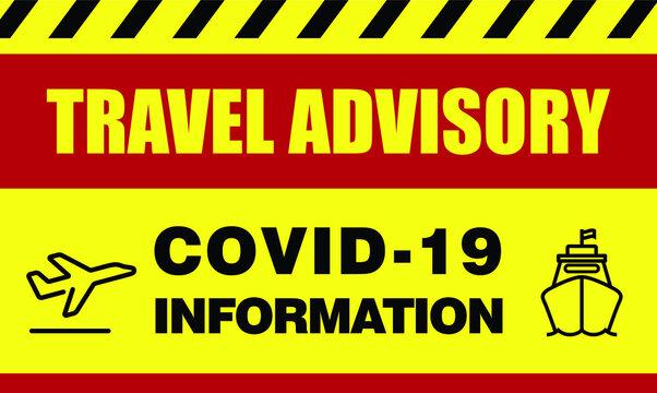 Travel advisory signs during corona virus outbreak for passenger of public transportation.