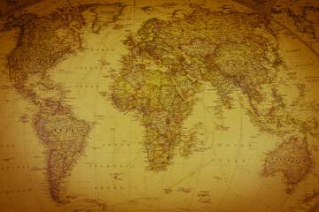 Papiers peints Amérique du Sud Vintage map of the world. Top view