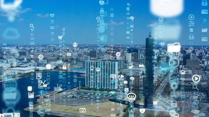 都市とテクノロジー Wall mural
