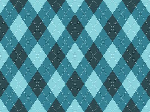 Argyle pattern seamless. Fabric texture background. Classic argill vector ornament