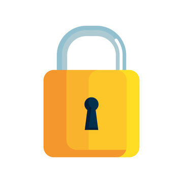 locker icon, padlock symbol, safety and security protection on white background vector illustration design