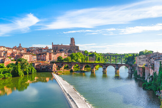 Albi in a summer sunny day,France